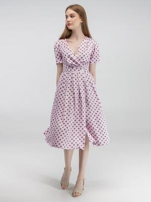 Сукня рожева у сірий горох | 5398990
