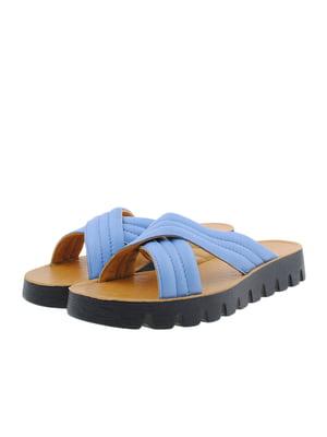 Шлепанцы голубые | 5388502
