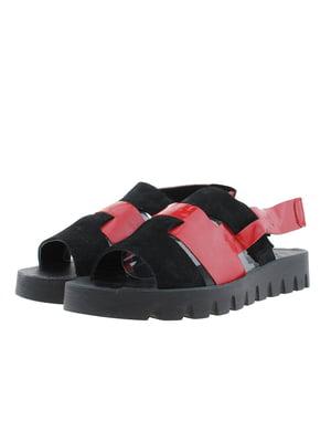 Босоніжки червоно-чорні   5395728