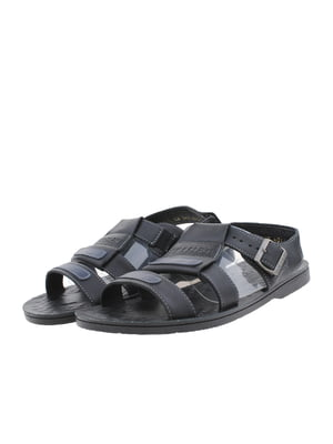 Сандалии черно-синие | 5395924