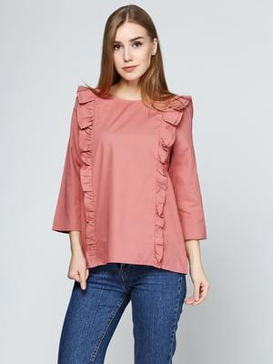 Блуза терракотового цвета | 5399335