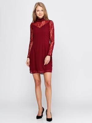 Сукня бордова | 5399346