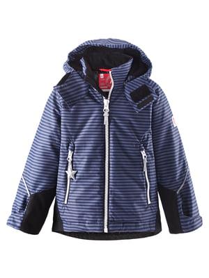 Куртка синя в смужку | 5393387
