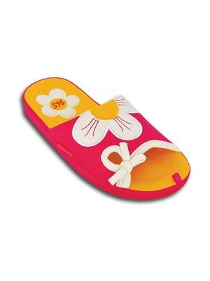 Тапочки розовые с декором   5400820