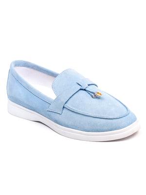Лоферы голубые | 5399238
