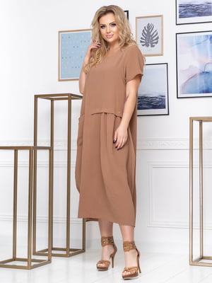 Платье коричневое | 5400921