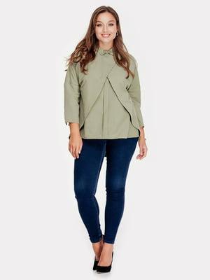 Блуза цвета хаки | 5400964