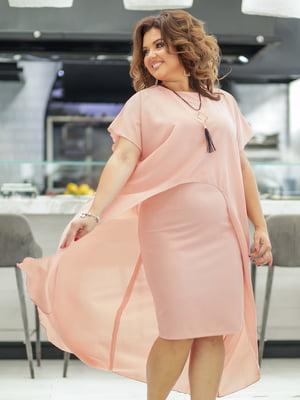 Платье цвета пудры | 5400974