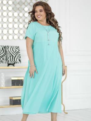 Платье мятного цвета | 5401001
