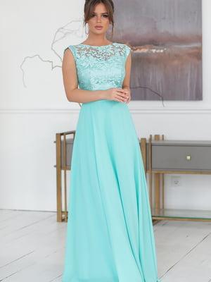 Платье мятного цвета | 5401043
