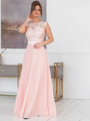 Сукня кольору пудри | 5401044