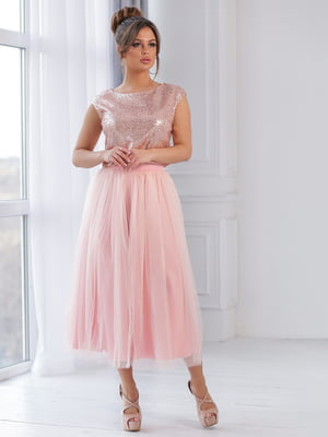 Сукня кольору пудри | 5401059