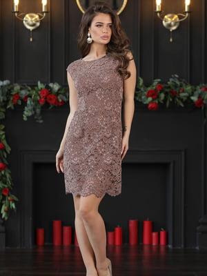 Сукня кольору мокко | 5401087