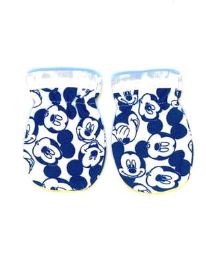 Царапки сині з принтом | 5401515