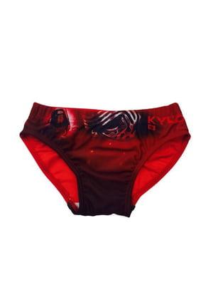 Плавки червоні з принтом | 5401607