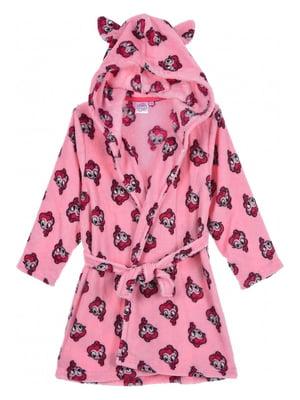 Халат розовый с принтом | 5401663