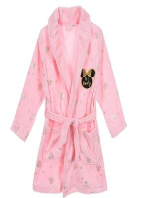 Халат розовый с декором | 5401665