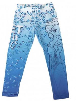 Легінси сині з принтом | 5401695