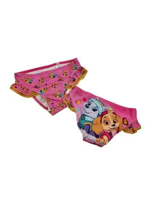 Трусы купальные розовые с принтом | 5401733