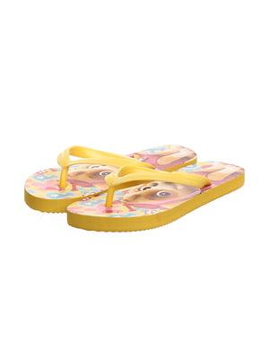 Вьетнамки желтые с принтом | 5401808