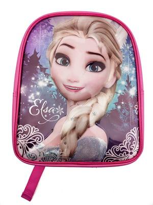 Рюкзак розовый с принтом   5401850