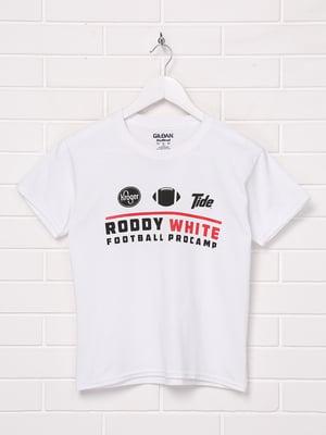 Футболка біла з принтом | 5401989