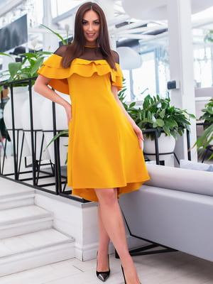 Сукня гірчичного кольору | 5379723