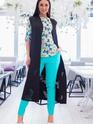 Костюм: блуза, брюки и кардиган | 5379748