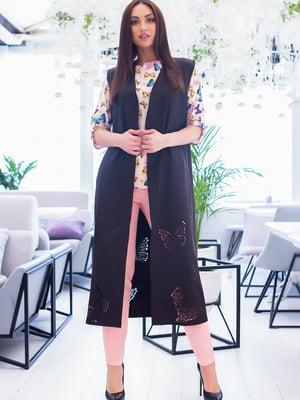 Костюм: блуза, брюки и кардиган | 5379749