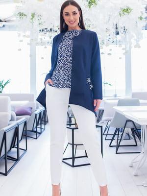 Костюм: блуза, брюки и кардиган | 5379751