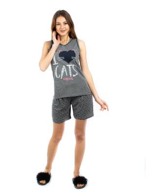 Пижама: майка и шорты | 5402052