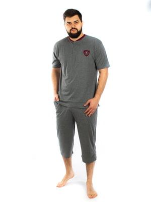 Пижама: футболка и капри | 5402067