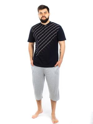 Пижама: футболка и капри | 5402071