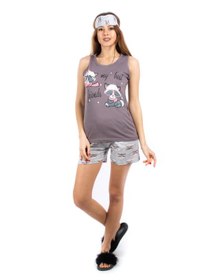 Пижама: майка и шорты | 5402061