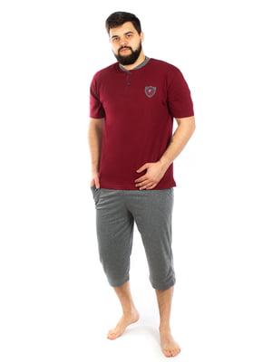 Пижама: футболка и капри | 5402068