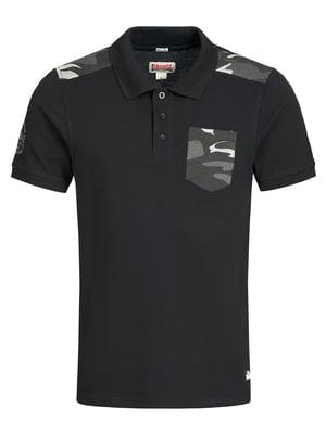 Футболка-поло черная | 5405004