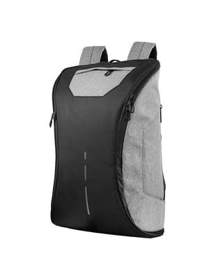 Сумка-рюкзак спортивная черно-серая | 5416787