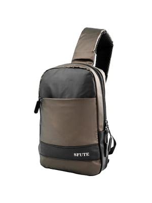 Сумка-рюкзак чорно-коричнева   5416993