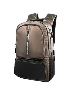 Рюкзак коричнево-чорний | 5417028