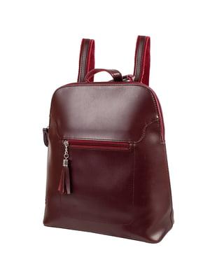 Рюкзак бордовий | 5417119