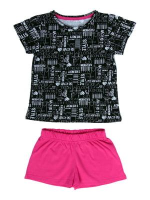 Пижама: футболка и шорты | 5417163