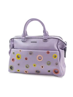 Сумка фіолетова з декором | 5385986