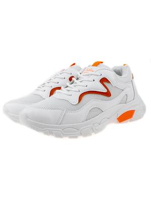 Кросівки біло-помаранчеві | 5321890