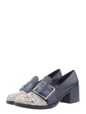 Туфлі чорно-бежевого кольору | 5397672