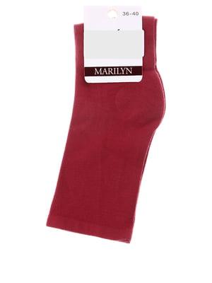 Носки бордовые | 4810702