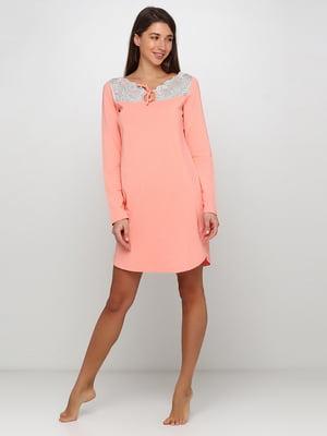 Ночная рубашка персикового цвета | 5305688