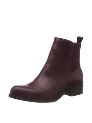 Ботинки бордовые | 5419386