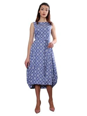 Сукня синя в ромб | 5419529