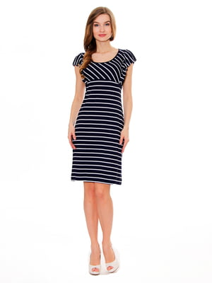 Платье синее в полоску   5419540