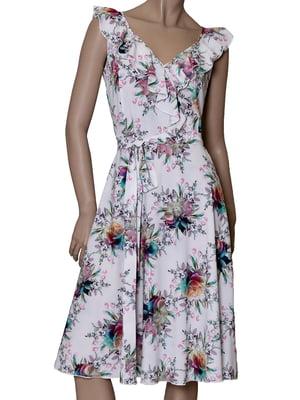 Платье белое с принтом | 5419521